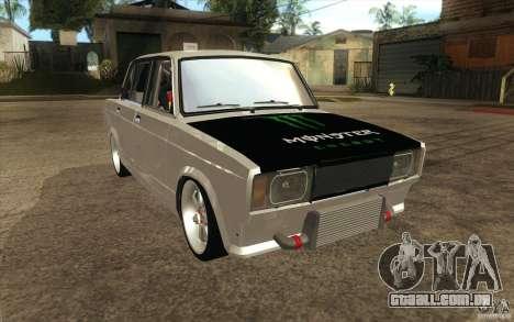 Drift Vaz Lada 2107 para GTA San Andreas vista traseira