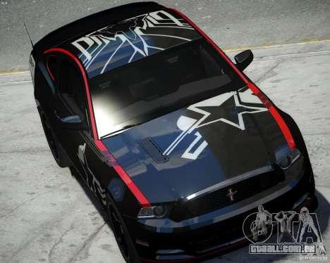 Ford Mustang Boss 302 para GTA 4 vista direita
