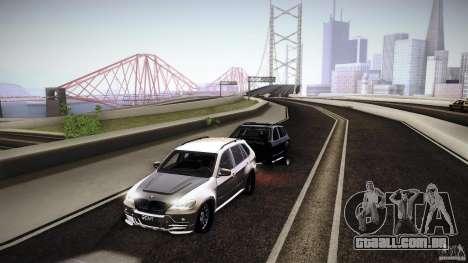 BMW X5 with Wagon BEAM Tuning para GTA San Andreas vista direita