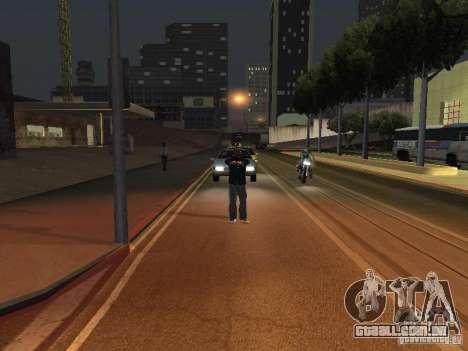 Câmera em movimento livre para GTA San Andreas por diante tela