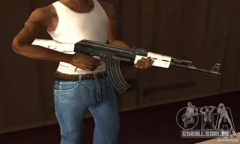 AK47 de neve (neve Ak47) para GTA San Andreas segunda tela