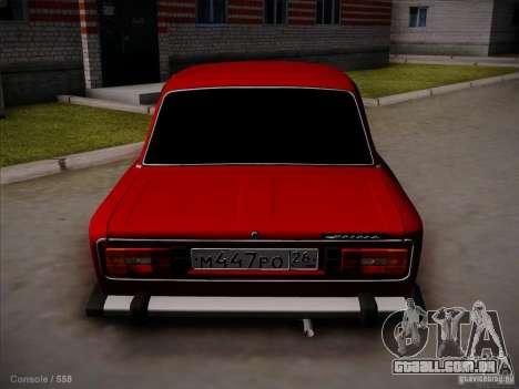 VAZ 2106 Pyatigorsk para GTA San Andreas traseira esquerda vista