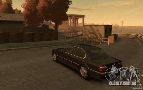 BMW 750iL (E38) v.3 para GTA 4 traseira esquerda vista