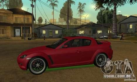 As luzes de neon verdes para GTA San Andreas por diante tela