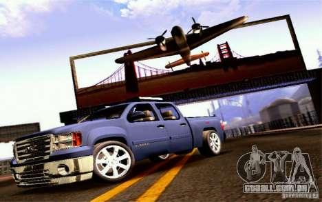 GMC Sierra 2011 para GTA San Andreas traseira esquerda vista