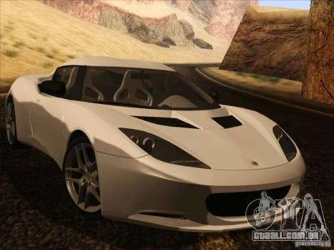 Lotus Evora para GTA San Andreas vista traseira