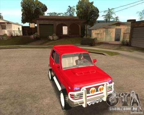 VAZ 21213 4 x 4 para as rodas de GTA San Andreas