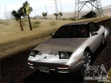 Nissan 240SX S13 - Stock para GTA San Andreas traseira esquerda vista