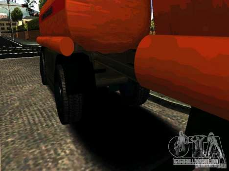 MAZ 533702 reboque caminhão para GTA San Andreas esquerda vista