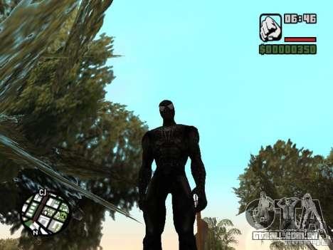 Inimigo do homem-aranha em reflexão para GTA San Andreas segunda tela