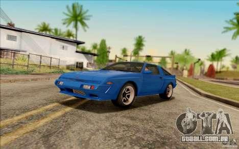 SA_DirectX 1.3 BETA para GTA San Andreas por diante tela