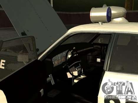 Dodge Polara Police 1971 para GTA San Andreas vista traseira
