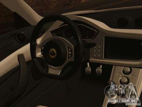 Lotus Evora para vista lateral GTA San Andreas