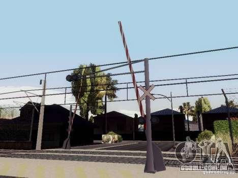 FERROVIÁRIA atravessando RUS V 2.0 para GTA San Andreas terceira tela