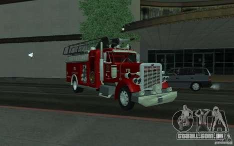 Peterbilt 379 Fire Truck ver.1.0 para GTA San Andreas vista direita
