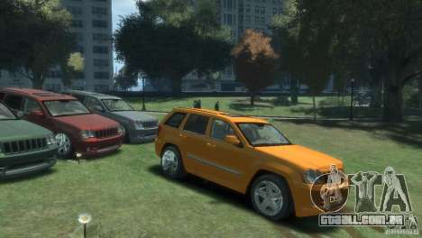 Jeep Grand Cherokee SRT8 para GTA 4 esquerda vista