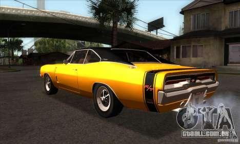 Dodge Charger RT 1969 para GTA San Andreas traseira esquerda vista