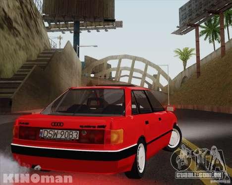 Audi 90 Quattro para GTA San Andreas esquerda vista