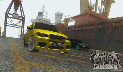 BMW X5M Gold Smotra v2.0 para GTA San Andreas esquerda vista