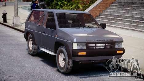 Nissan Terrano para GTA 4 vista de volta
