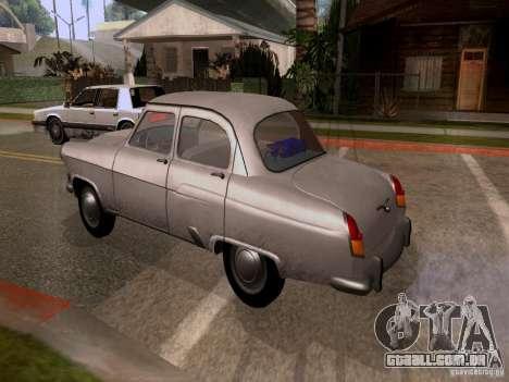 GAZ 21 Volga para GTA San Andreas esquerda vista