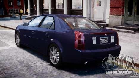 Cadillac CTS para GTA 4 traseira esquerda vista