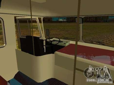 SULCO 672.60 ao ar livre para GTA San Andreas vista interior