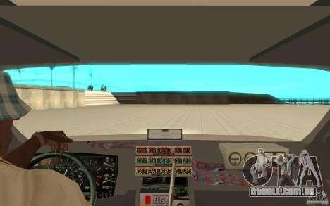 DeLorean DMC-12 (BTTF1) para GTA San Andreas vista traseira
