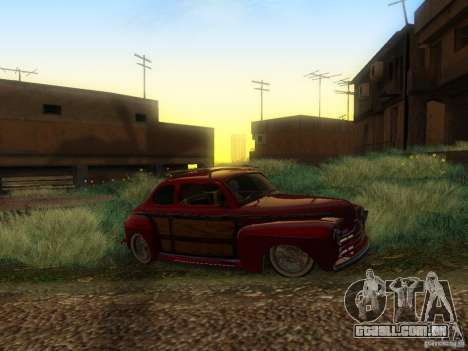 Ford Coupe 1946 Mild Custom para GTA San Andreas vista traseira