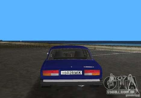 Carro LADA 2107 VAZ para GTA Vice City vista traseira esquerda