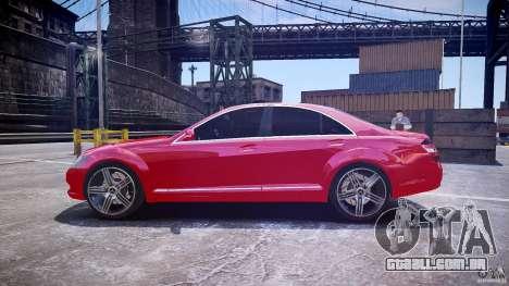 Mercedes Benz w221 s500 v1.0 cls amg wheels para GTA 4 esquerda vista