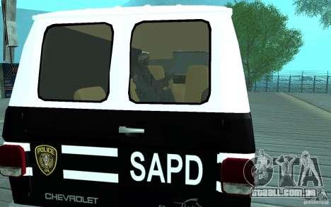 Chevrolet G20 Enforcer para GTA San Andreas vista direita