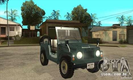 Suzuki Jimny para GTA San Andreas vista traseira