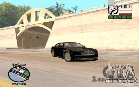 Dodge Charger SRT8 para GTA San Andreas traseira esquerda vista