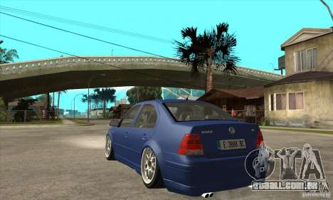 VW Bora VR6 Street Style para GTA San Andreas traseira esquerda vista