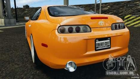 Toyota Supra Tuning para GTA 4 traseira esquerda vista