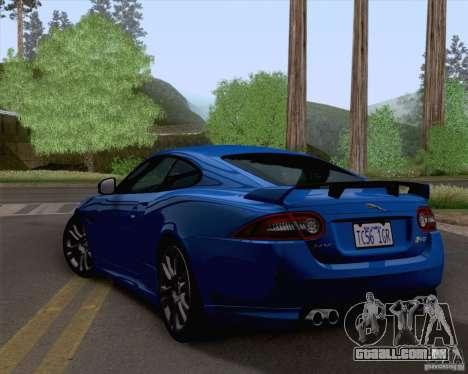 Jaguar XKR-S 2012 para GTA San Andreas esquerda vista