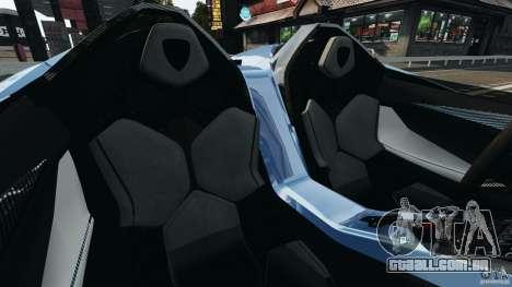 Lamborghini Aventador J 2012 para GTA 4 vista interior