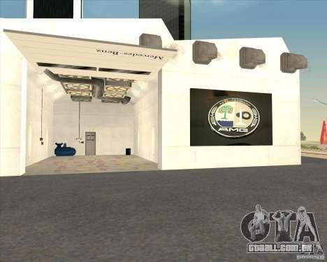 AMG showroom para GTA San Andreas quinto tela