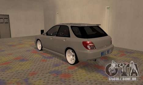 Subaru Impreza WRX Wagon para GTA San Andreas vista direita