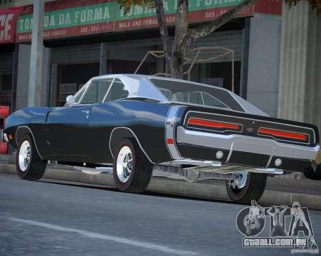 Dodge Charger RT Stock [EPM] para GTA 4 esquerda vista