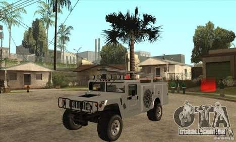 Hummer H1 Utility Truck para GTA San Andreas