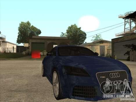 Audi TT RS 2010 para GTA San Andreas vista traseira