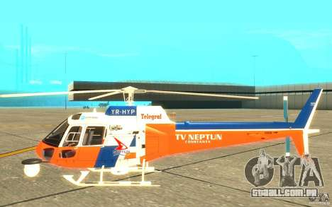 AS-350 TV para GTA San Andreas traseira esquerda vista
