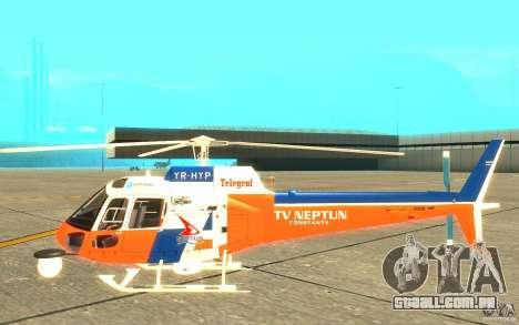 AS-350 TV para GTA San Andreas traseira esquerda vista