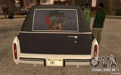 Cadillac Fleetwood Hearse 1985 para GTA San Andreas traseira esquerda vista