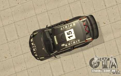 2 obras de pintura para o Ford Focus RS WRC 08 para GTA San Andreas vista interior