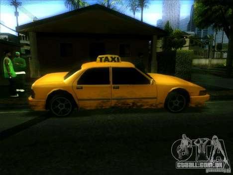 Sunrise Taxi para GTA San Andreas esquerda vista