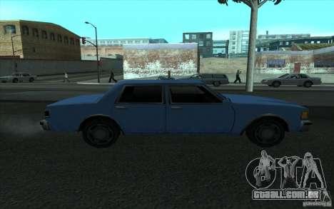 Civilian Police Car LV para GTA San Andreas esquerda vista
