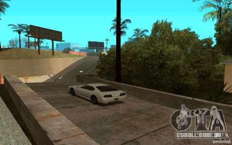 Carros esporte perto de Grove Street para GTA San Andreas terceira tela